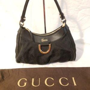 Gucci authentic D-gold shoulder bag